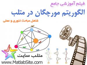 فیلم آموزشی جامع الگوریتم مورچگان در متلب -- شامل مباحث تئوری و عملی (به زبان فارسی)