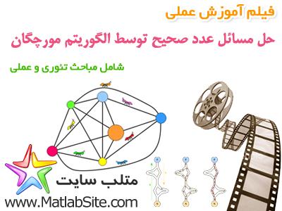 فیلم آموزش عملی حل مسائل گسسته با استفاده از الگوریتم مورچگان (به زبان فارسی)
