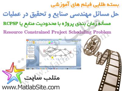 فیلم آموزشی حل مسأله زمان بندی پروژه با محدودیت منابع یا RCPSPS در متلب (به زبان فارسی)
