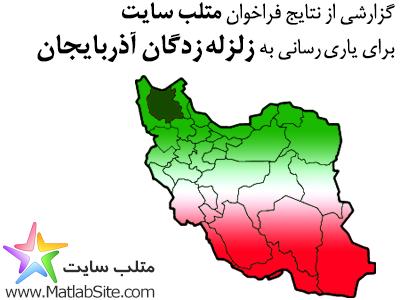 گزارشی از نتایج فراخوان متلب سایت برای یاری رسانی به زلزله زدگان آذربایجان