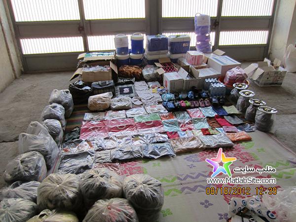 عکسی از محموله کمک های ارسالی به زلزله زدگان آذربایجان
