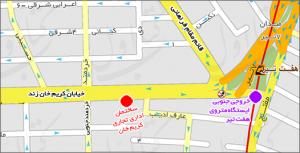 نقشه دقیق محل شرکت دانش آرتان سهند و دفتر مرکزی متلب سایت
