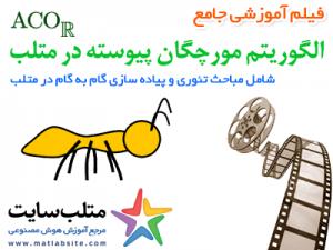 فیلم آموزشی جامع الگوریتم مورچگان برای فضای پیوسته یا ACOR در متلب (به زبان فارسی)