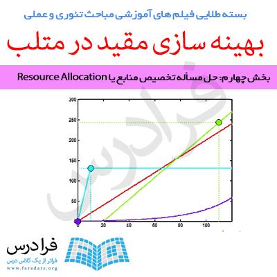 دانلود رایگان فیلم آموزشی حل مسأله تخصیص منابع یا Resource Allocation (به زبان فارسی)