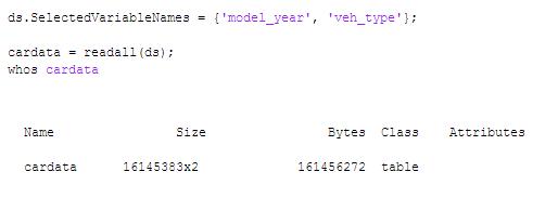 روش 1: ستونهای دلخواه از داده را برای استفاده در حافظه بخوانید.