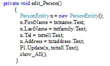 زیربرنامه Edit_Person