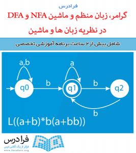 آموزش گرامر، زبان منظم و ماشین NFA و DFA در نظریه زبان ها و ماشین (مرور اجمالی - تست کنکور ارشد)